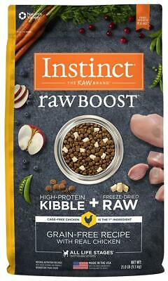 Nature's Variety Instinct Raw Boost Grain Free Real Chicken Natural Dog Food