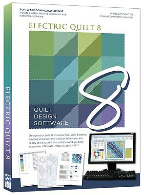 Electric Quilt 8 Quilt Design Software EQ8 for Windows/Mac OS