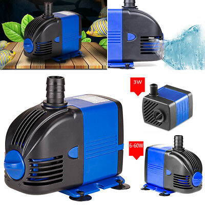 60W Submersible Pompe à Eau Aquarium Powerhead Fontaine Étang Hydroponique