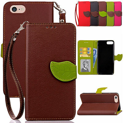 Real Genuine Leather Wallet Phone Case Cover for iPhone 5 5s SE 5C 7 7+ 8 8 Plus