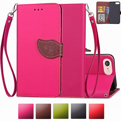 Women Real Genuine Leather Flip Wallet Phone Case Cover For iPhone 6 6s Plus