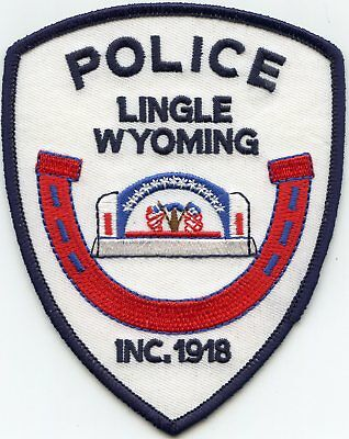 Lingle Wyoming Wy Police Patch