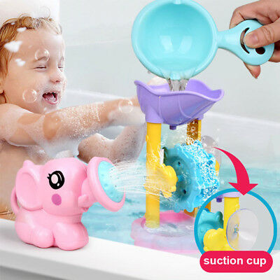 Cartoon Waterwheel Scoop Shower Whale Spraying Elephant Sprinkler Baby Bath Toy