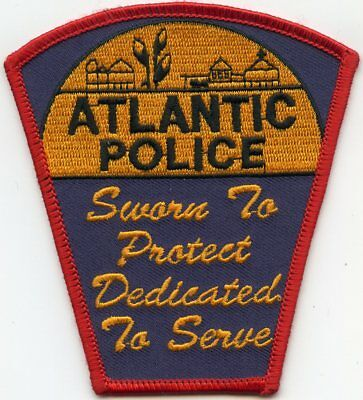 ATLANTIC IOWA IA Sworn To Protect - Dedicated To Serve POLICE PATCH