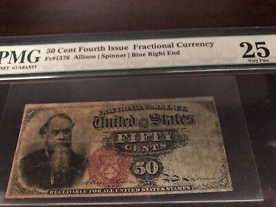 50c Fourth Issue Fractional Currency - VF 25