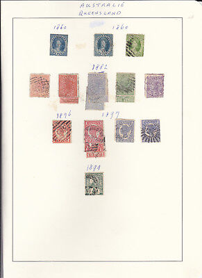 STAMPS..Australia Queensland on page x 19 used.1860 +=