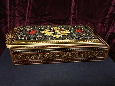 Antique hand-made hunting pattern wooden box