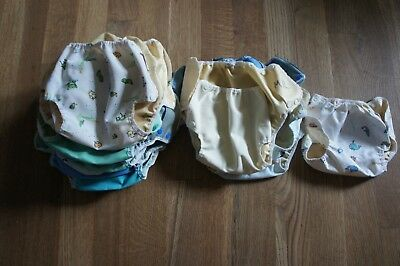 Lot of 23 Mother-Ease Air Flow Diaper Covers With Bad PUL Sizes L M/L M Swim