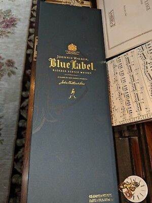 Johnnie Walker Blue Label Blended Scotch Whisky Empty Box Case 750 ml