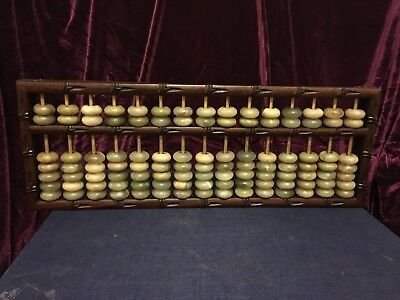 Chinese Old antique wooden Abacus Calculator 15axle abacus
