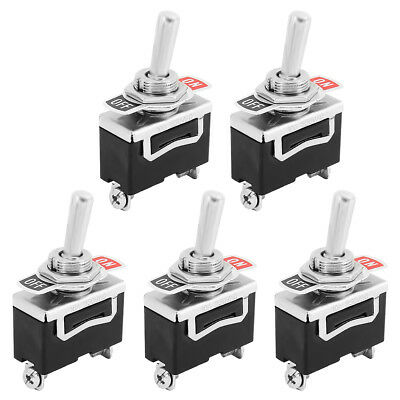 5 X SPST 2Pin Heavy Duty 15A 125V ON/OFF Rocker Toggle Switch Waterproof Boot US