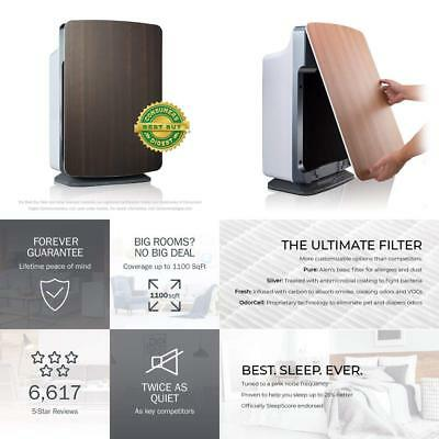 Alen BreatheSmart Customizable Air Purifier with HEPA-Silver Filter to...