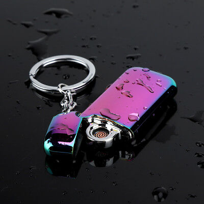Electric double arch pulse plasma Lighter Flameless Metal Cigarette USB Gift