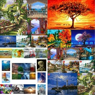 DIY Oil Painting Art Paint by Number Kits For Home Office Wall Hanging Decor NEW