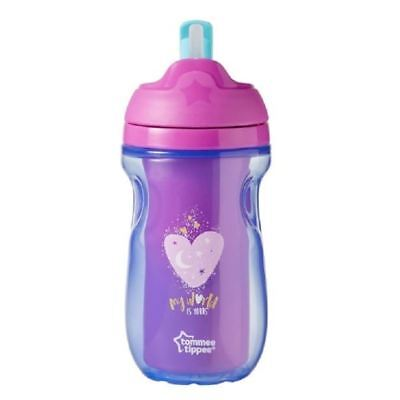 Tommee Tippee 12+m Insulated Straw Cup - My World Is Yours - 260ml 1 2 3 6 12