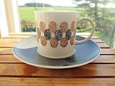 VINTAGE SUSIE  COOPER BONE CHINA  COFFEE  CUP & SAUCER catkin