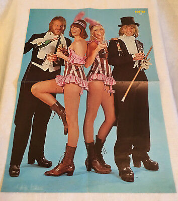 Abba 1976 Party Dressed - Sweden Swedish Poster Magazine 1970s Rare Vintage
