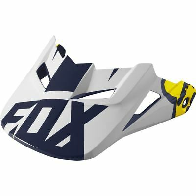 Fox Racing MX Spare Parts Mx16 V1 Helmet Visor-Race Se White/Yellow M/L 17422