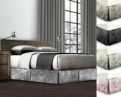 Crushed Velvet Platform Valance Divan Base Valance Sheet Velvet Cover Wrap