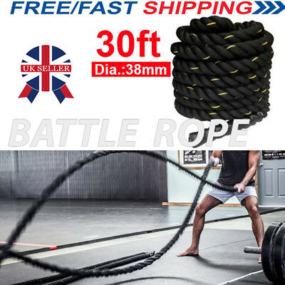 9M Battle Rope 38mm Strength Training Battling Home Gym Exercise Fitness Anchor