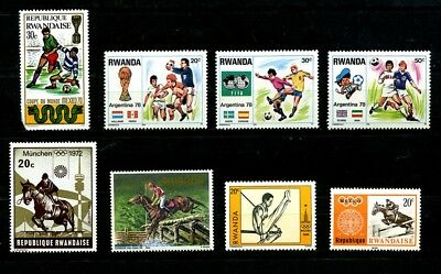 Rwanda Stamps Football, Sport, Olympics, World Cup Soccer