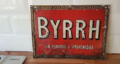 Original Vintage French Byrrh Advertising Tin Sign
