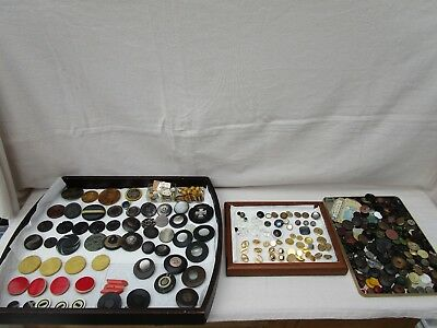 Vintage / Antique Buttons  Art Deco / Wood / Mother Of Peral / Glass  MIXED LOT