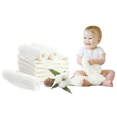 1/ 5X Reusable Baby Cloth Diaper Nappy Liners Insert 3 Layers Cotton