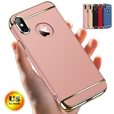 For iPhone XS X 8 7 6S Plus Mosofe® Shockproof Bumper Hybrid Slim Case Cover