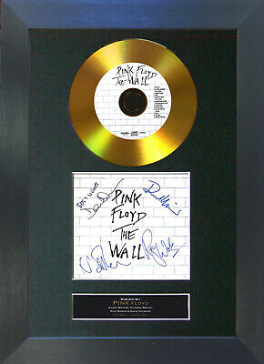GOLD DISC PINK FLOYD The Wall Signed Autograph Mounted Print A4 115