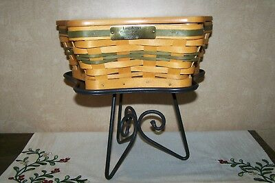 2001 Longaberger Christmas Collection Shining Star Basket – Green