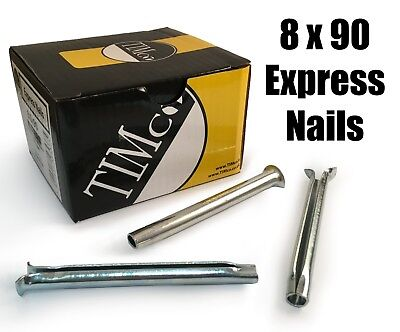 TIMco 8 x 90mm Express Nails Anchor Masonry Brick Timber Frames Box of 50