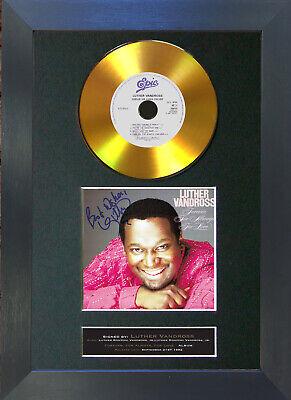 GOLD DISC LUTHER VANDROSS Forever For Always Signed Autograph Mounted Print 154