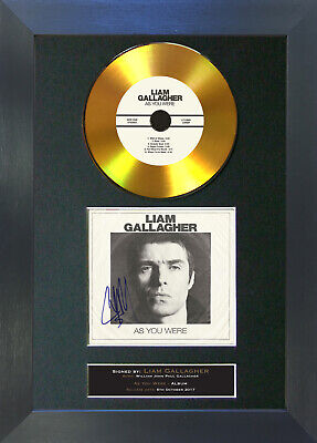 GOLD DISC LIAM GALLAGHER As You Were Signed Autograph Mounted Print 156