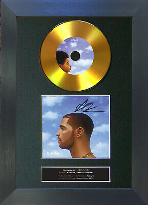 GOLD DISC DRAKE Nothing Was The Same Signed Autograph Mounted Print A4 161