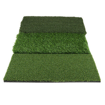 3-in-1 Golf Hitting Grass Mat Three Turf Types Indoor Practice Driving Aids