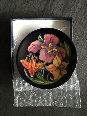 Moorcroft Collector Club Coaster/Pin Dish 2003 Signed Rachel Bishop