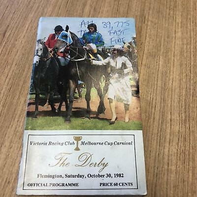 1982 Derby Day - Racecall book - Greg Miles Collection