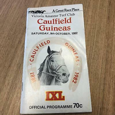 1982 Caulfield  Guineas - Racecall book - Greg Miles Collection