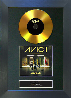 GOLD DISC AVICII Levels Signed Autograph Mounted Print A4 168