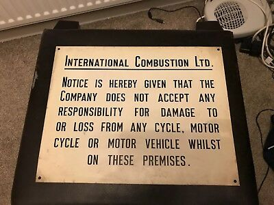 Metal Sign (Industrial Salvage) Vintage