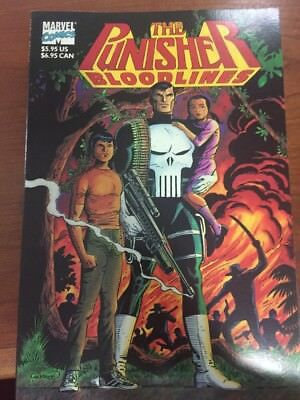 "Marvel Comics The Punisher ""Bloodlines"" Graphic Novel 1991 First Print Collector"
