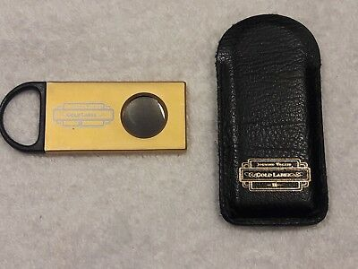 JOHNNIE WALKER GOLD LABEL Vintage Cigar Cutter with Leather Case NEW!!