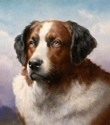 ZWPT536 100% hand-painted moder animal dog home art oil painting on canvas