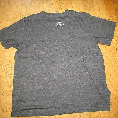 Ford T-Shirt Adult Gray Heather Adult Size L
