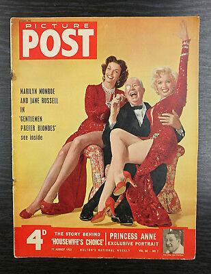 Picture Post Magazine feat Marilyn Monroe & Jane Russell, 15th August 1953