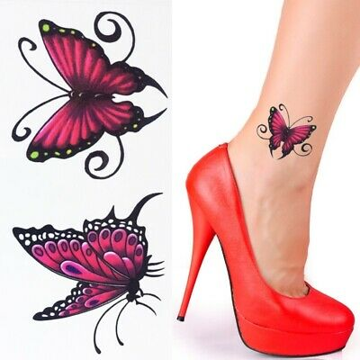 Einmal Tattoo Schmetterling Temporary Tattoo Temporäre Tattoos Klebe Tattoo 203