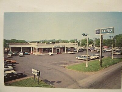 1975 TAUDER FORD, Inc., FORD DEALERSHIP. Phoenixville, PA. Color postcard.