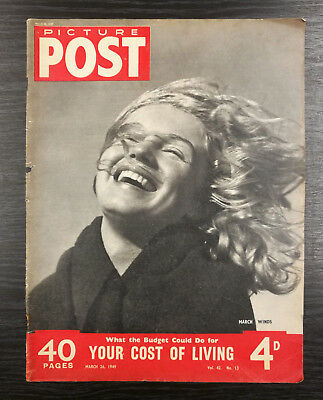 Picture Post Magazine feat Marilyn Monroe, 26th March 1949 - COVER ONLY