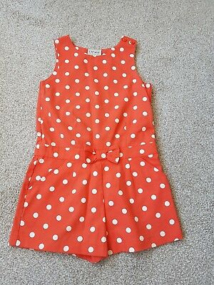 next girls age 5 playsuit orange summer outfit